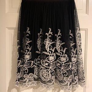 Alfani Lace Scalloped Skirt